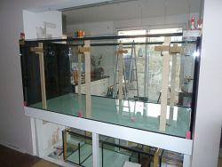 AquaGlas: Einbau Großaquarium